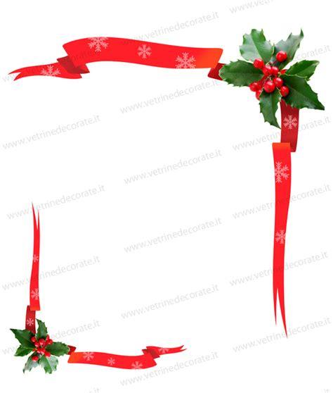 cornici natalizie per word decorazioni natalizie angolari con agrifoglio e nastri