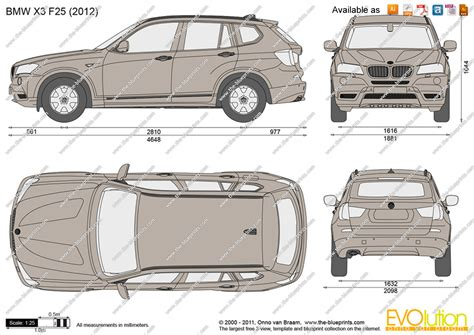 Bmw X3 Length by Bmw X3 Dimensions