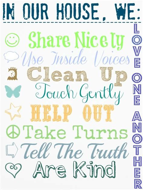 house rules house rules free printable cool shtuff pinterest