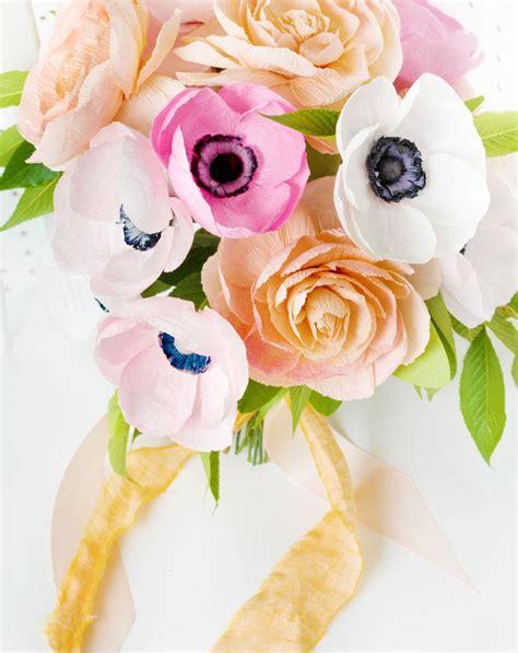 Flower Bouquet With Paper - diy paper flower wedding bouquet