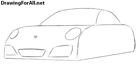 how to draw a jaguar car drawingforall net how to draw a porsche 911 drawingforall net
