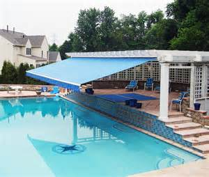 swimming pool awnings retractable awning retractable awning pool