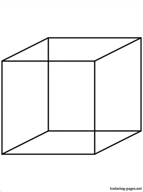cube coloring page coloring pages