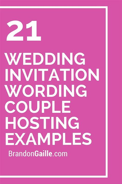 Wedding Invitation By Couples Wordings