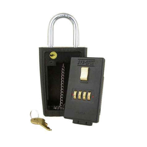 nuset 4 number combination lockbox key storage lock box
