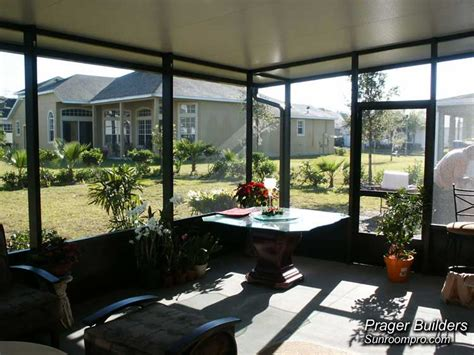 florida room screen room orlando florida with insulated roof prager builders sunroom pro