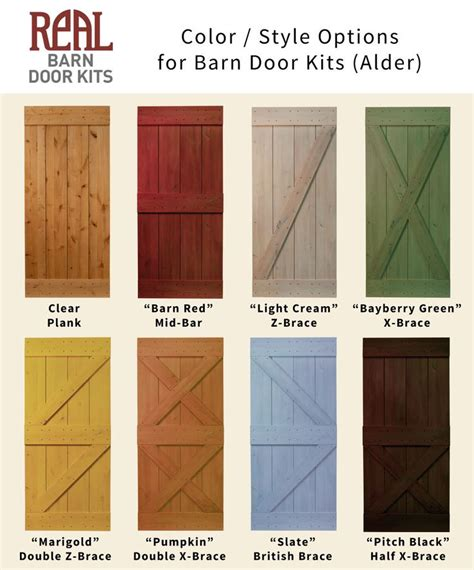 Rustic Alder Barn Door Real Barn Door Kits