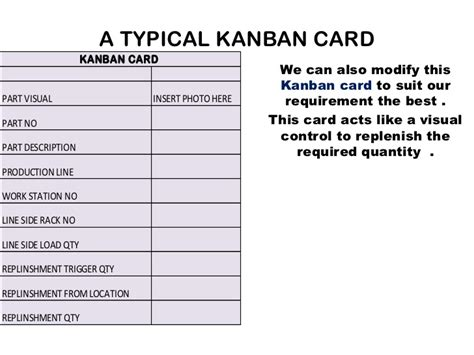 kanban card template kanban cards exles images