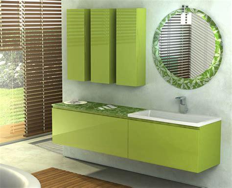 green bathroom vanity from duebi italia
