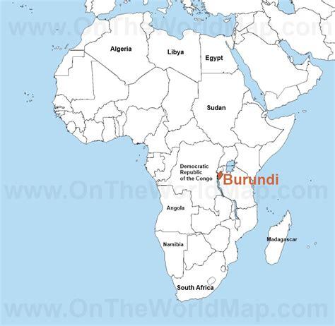 burundi in world map burundi on the world map burundi on the africa map