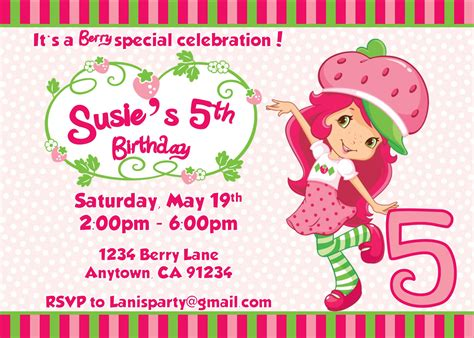 Strawberry Shortcake Invitation Template strawberry shortcake invitation template orderecigsjuice