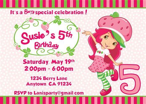 Strawberry Shortcake Invitation Template Free Strawberry Shortcake Personalized Birthday Invitations Dolanpedia Invitations Template