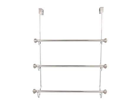 Shower Door Towel Rack Interdesign York Metal Shower Door 3 Bar Towel Rack Shipped Free At Zappos