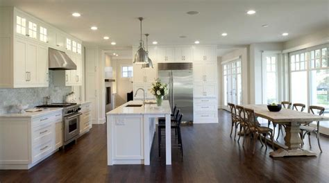 open kitchen design with island creating an open kitchen and dining room