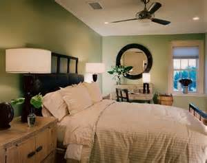 green bedroom with brown accents bedrooms