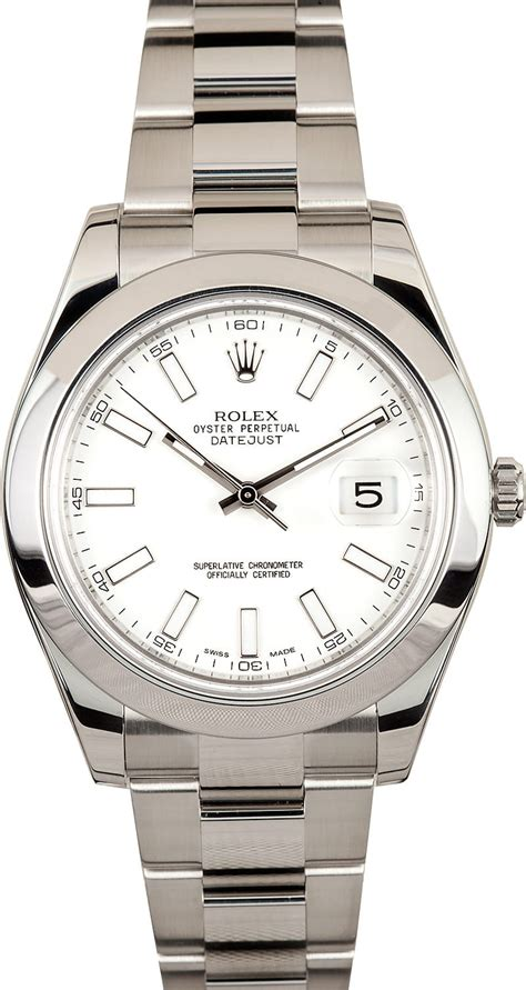 Rolex Oyster Perpetual Datejust 41 116300 rolex datejust ii 116300 white