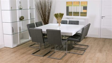 large white dining table white square dining table for 8 white oak dining table