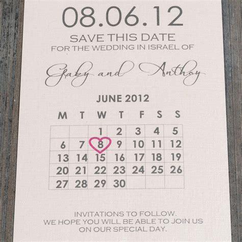 Calendar Save The Date Celebration Invitations Save The Date Baby Naming U