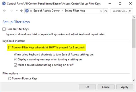 windows vista password reset sticky keys how to disable sticky filter keys permanently in windows