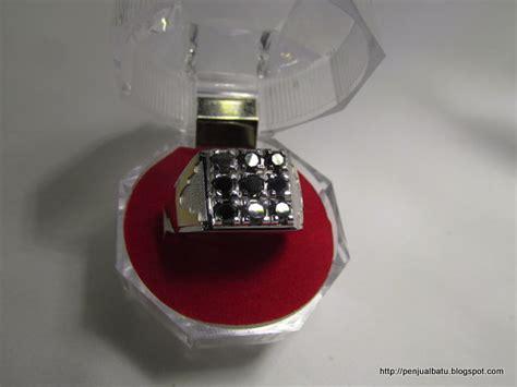 Cincin Mewah Safir Cylon Bertabur Berlian cincin batu permata