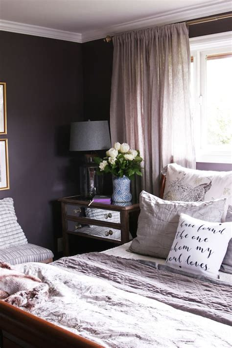 dark purple master bedroom master bedroom sneak peek black frosted plum walls