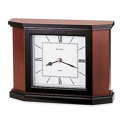 bed bath and beyond holyoke bulova holyoke table clock in cherry bed bath beyond