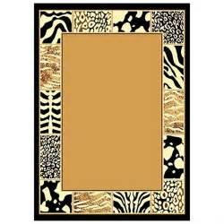 animal prints border area rug 226521 rugs at sportsman