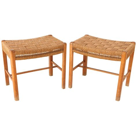 woven bench small danish woven rush benches at 1stdibs