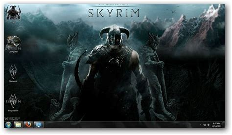 pc themes vikitech windows 7 theme for the elder scrolls skyrim
