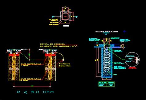 detail grounding dwg detail  autocad designs cad