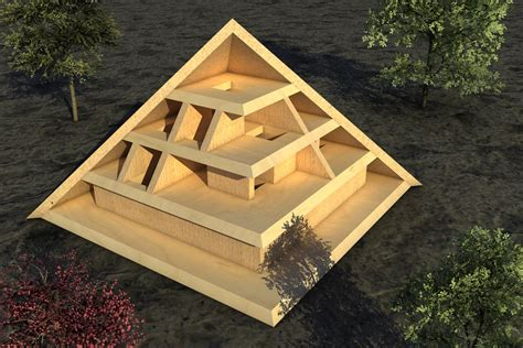How Do You Make A Pyramid Out Of Paper - diy how to build a 3d pyramid out of wood plans free