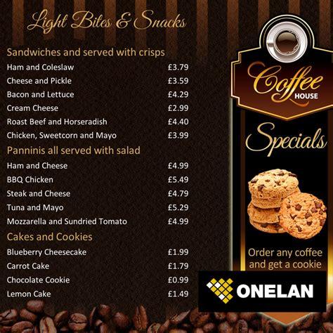 coffee shop menu design free coffee shop menu board onelan digital signage layout