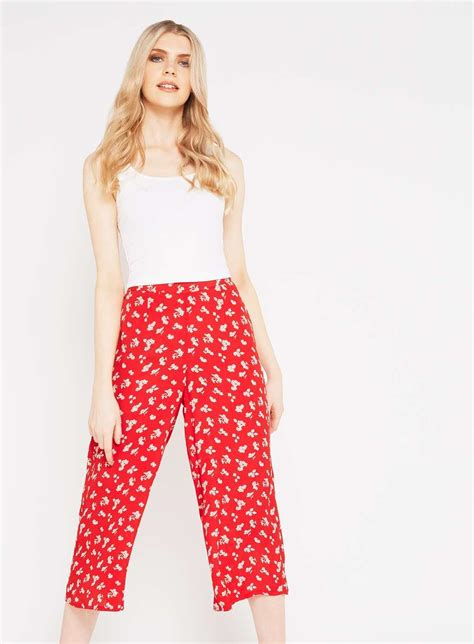 Printed T Shirt Dresses From Miss Selfridge by Miss Selfridge Printed Cropped Trousers In Lyst