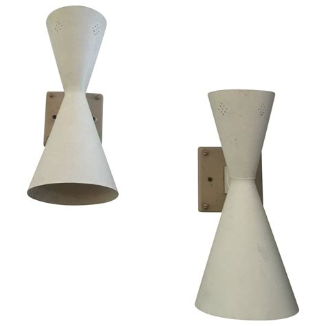 Mid Century Wall Sconce Mid Century Cone Perforated Wall Sconces At 1stdibs