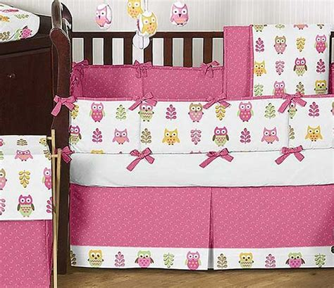Happy Owl Crib Bedding Set By Sweet Jojo Designs 9 Piece Owl Nursery Bedding Sets