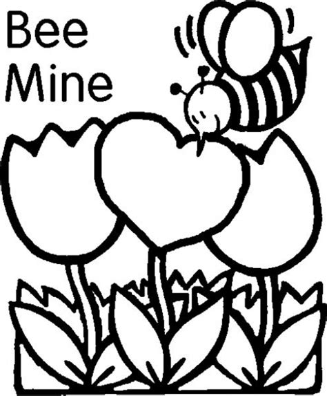 happy valentine s day flowers coloring page free free printable valentines day coloring pages printable