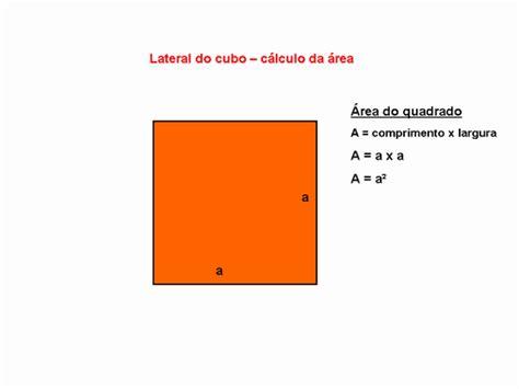 calcular a area da superficie de um cubo portal do professor geometria espacial cubo e