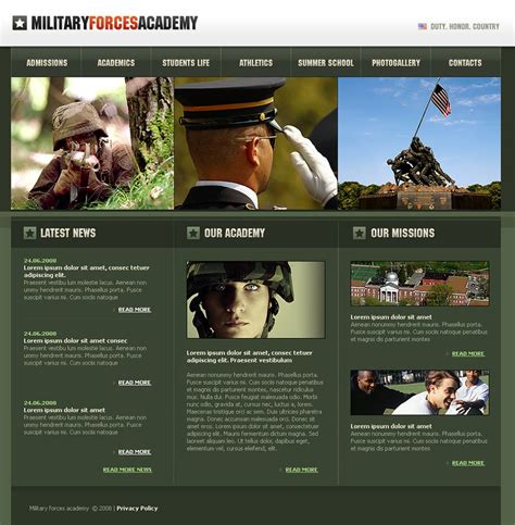 13 best military website templates themes free