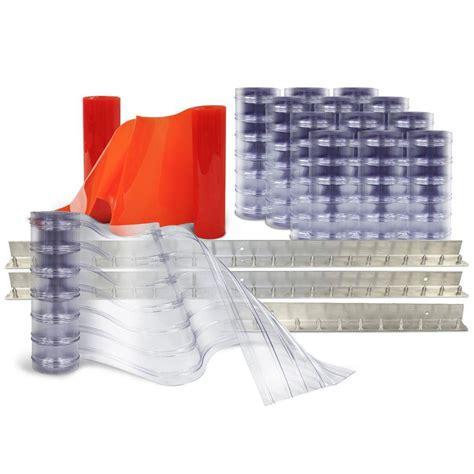 aleco strip curtains aleco scratch guard 10 ft x 12 ft pvc strip door kit