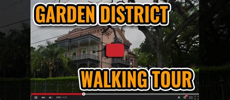 Garden District New Orleans Walking Tour Map by Free New Orleans Garden District Walking Tour Map