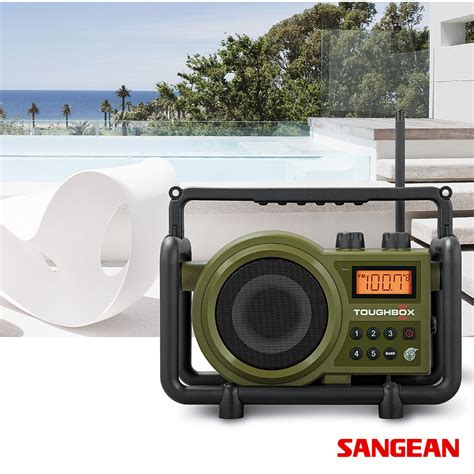 rugged fm radio toughbox ultra rugged digital tuning radio receiver sangean metropolitandecor