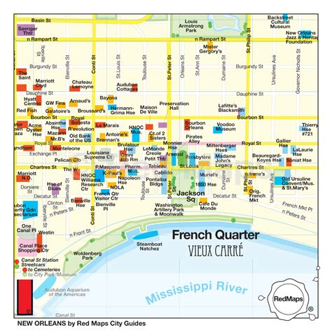 new orleans map popular 196 list quarter hotels map