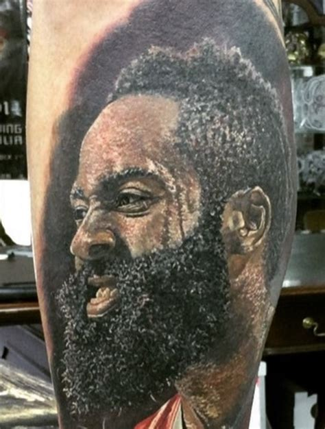 james harden tattoos harden leg blacksportsonline