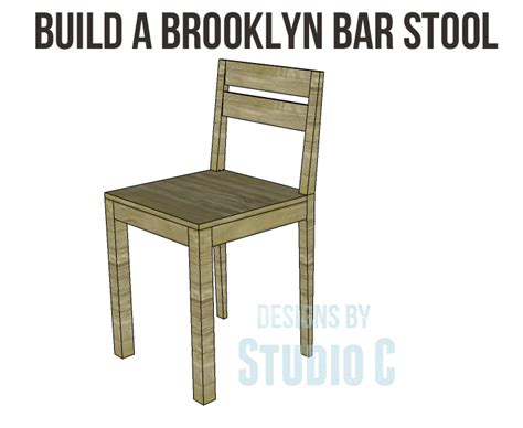 brooklyn bar stool build a brooklyn bar stool designs by studio c
