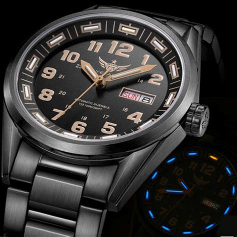 tritium automatic japantop movement 24 jewels
