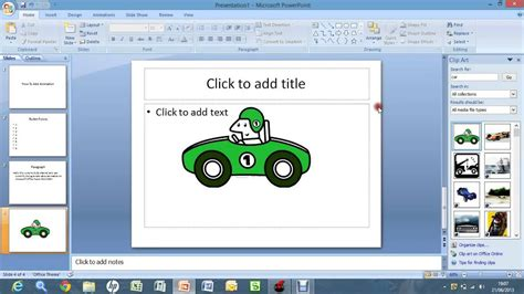 the layout of a powerpoint 2007 tab