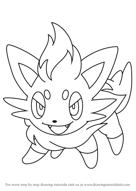 pokemon coloring pages of zorua 80 pokemon coloring pages zorua sandile pokemon