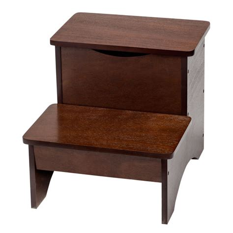 Wooden Step Stool With Storage by Wooden Step Stool With Storage By Oakridge Walter