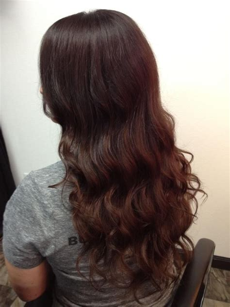 voted best hair dye chestnut brown hair with waves emerald city hair studio