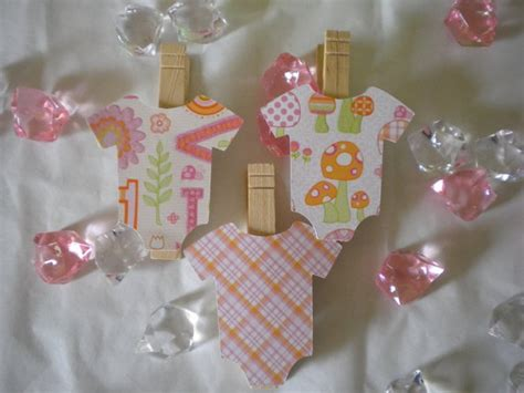 Baby Shower Clothespins by Pink Onesie Clothespins Etsy Craft It W Clothespin